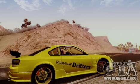 Nissan Silvia S15 Romanian Drifters para GTA San Andreas vista hacia atrás