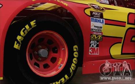 Ford Fusion NASCAR Sprint Cup 2013 para GTA San Andreas vista posterior izquierda