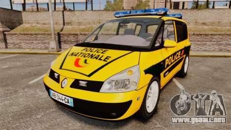 Renault Espace Police Nationale [ELS] para GTA 4
