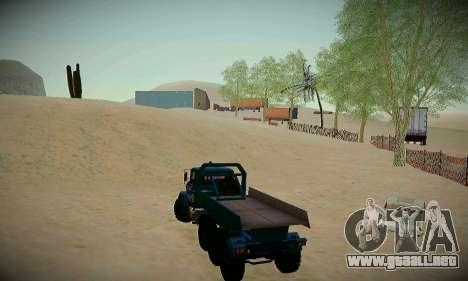 Pista de off-road para GTA San Andreas quinta pantalla
