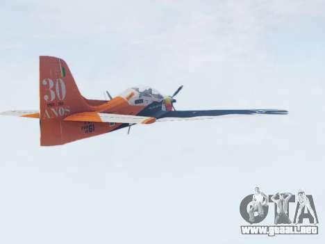 Embraer T-27 Tucano 30 Anos para GTA San Andreas left