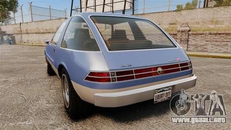 Declasse Rhapsody para GTA 4 Vista posterior izquierda
