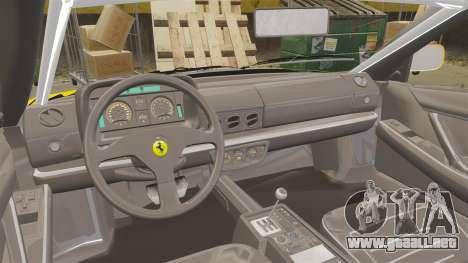Ferrari Testarossa 512 TR v2.0 para GTA 4 vista hacia atrás