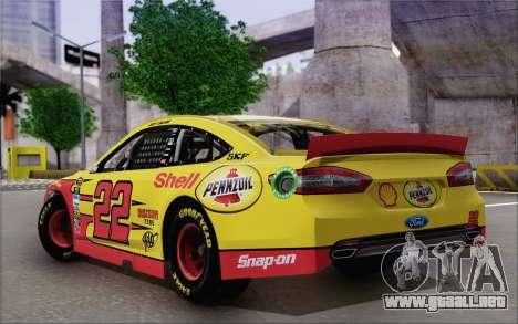 Ford Fusion NASCAR Sprint Cup 2013 para GTA San Andreas left
