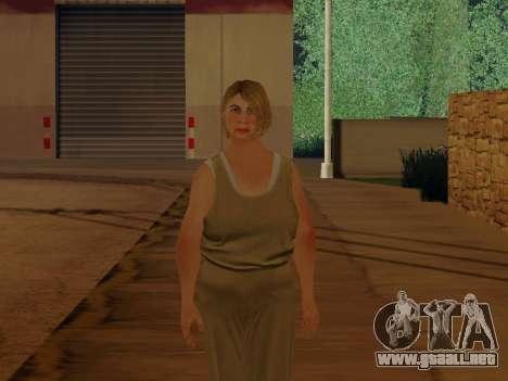 Mujer de edad avanzada para GTA San Andreas segunda pantalla