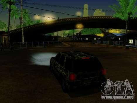 Chevrolet TrailBlazer Army para vista inferior GTA San Andreas