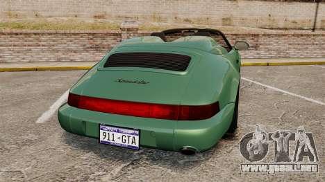 Porsche 911 Speedster para GTA 4 Vista posterior izquierda
