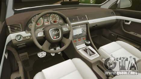 Audi S4 Avant Hungarian Police [ELS] para GTA 4 vista lateral