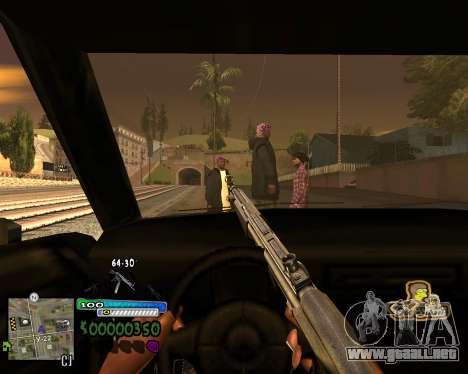 Vista de la primera persona para GTA San Andreas sucesivamente de pantalla