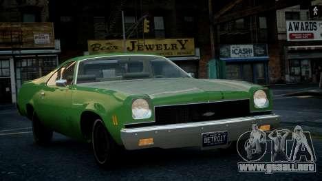 Chevrolet El Camino 1973 Old para GTA 4 vista interior