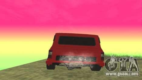 Ford Transit Supervan 3 Personalizado para GTA San Andreas vista posterior izquierda