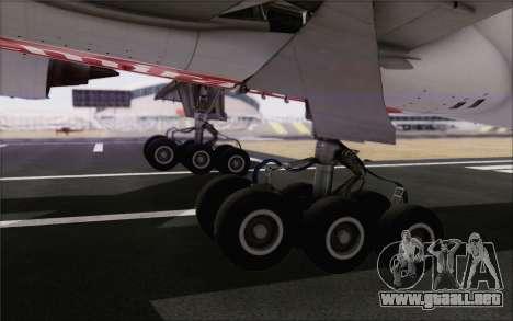 Emirates Airlines 777-200 para GTA San Andreas vista hacia atrás