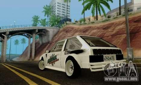 VAZ 2108 RDA para GTA San Andreas vista posterior izquierda
