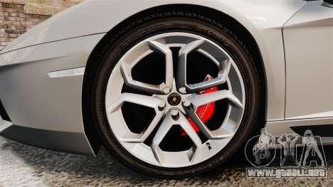 Lamborghini Aventador LP700-4 2012 [EPM] v1.1 para GTA 4 vista hacia atrás