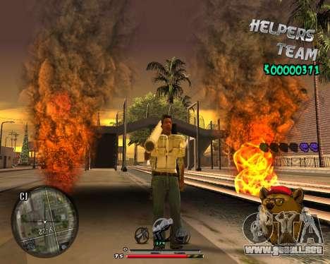 C-HUD Bear para GTA San Andreas tercera pantalla
