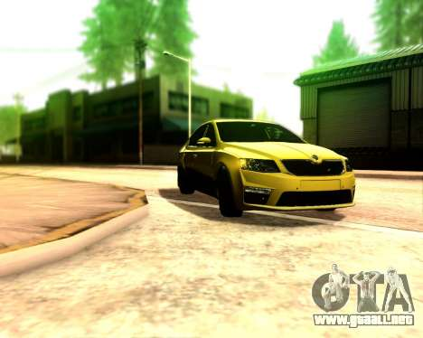 Skoda Octavia A7 RS para la visión correcta GTA San Andreas