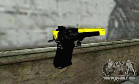 Yellow Desert Eagle para GTA San Andreas segunda pantalla