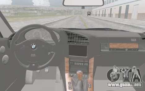 BMW M3 E36 para GTA San Andreas vista hacia atrás