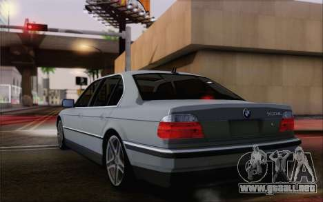 BMW 730d para GTA San Andreas left
