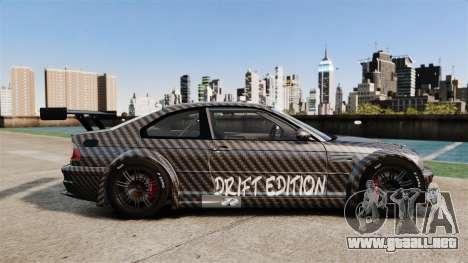 BMW M3 GTR 2012 Drift Edition para GTA 4 left