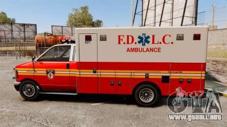 Brute FDLC Ambulance para GTA 4 left