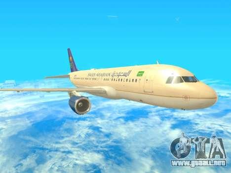 Airbus A320-200 Saudi Arabian para GTA San Andreas left