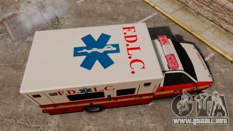 Brute FDLC Ambulance para GTA 4 visión correcta