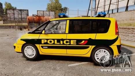 Renault Espace Police Nationale [ELS] para GTA 4 left