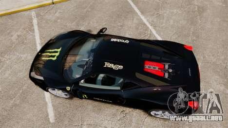 Ferrari 458 Italia 2010 Monster Energy para GTA 4 visión correcta