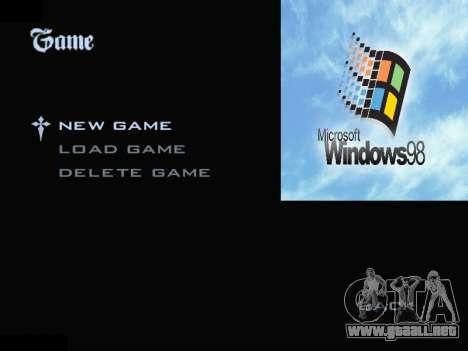 El Menú De Windows para GTA San Andreas segunda pantalla