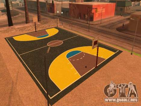 Nueva cancha de baloncesto para GTA San Andreas quinta pantalla