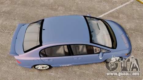 Honda Civic Si 2008 para GTA 4 visión correcta