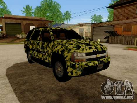 Chevrolet TrailBlazer Army para GTA San Andreas left