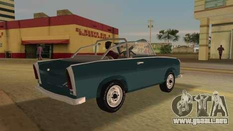 Trabant 601 Custom para GTA Vice City visión correcta