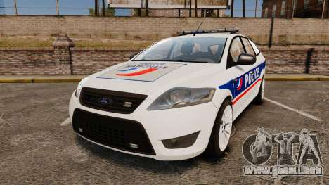Ford Mondeo IV Wagon Police Nationale [ELS] para GTA 4
