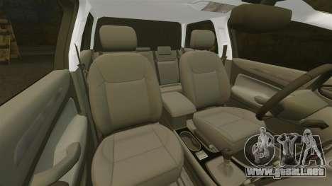 Ford Mondeo Croatian Police [ELS] para GTA 4 vista desde abajo