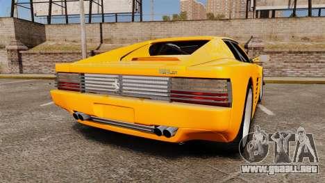 Ferrari Testarossa 512 TR v2.0 para GTA 4 Vista posterior izquierda