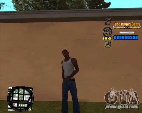 C-HUD Los Santos Vagos Gang para GTA San Andreas segunda pantalla