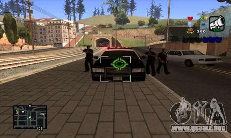 C-HUD Lite para GTA San Andreas quinta pantalla