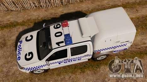 Toyota Hilux Police Western Australia para GTA 4 visión correcta