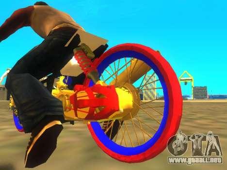 Drag Mio Full GOLD para GTA San Andreas vista hacia atrás