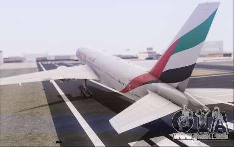 Emirates Airlines 777-200 para visión interna GTA San Andreas