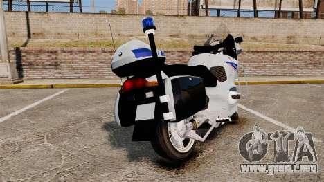 BMW R1150RT Police nationale [ELS] v2.0 para GTA 4 Vista posterior izquierda