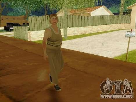 Mujer de edad avanzada para GTA San Andreas sexta pantalla