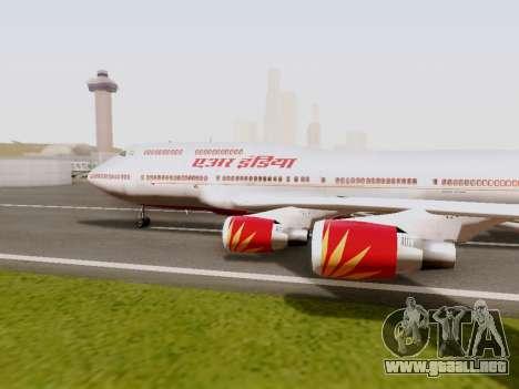 Boeing 747 Air India para GTA San Andreas left