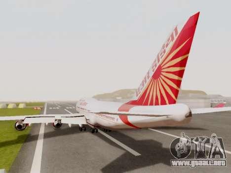 Boeing 747 Air India para GTA San Andreas vista hacia atrás