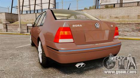 Volkswagen Bora 1.8T Camel para GTA 4 Vista posterior izquierda