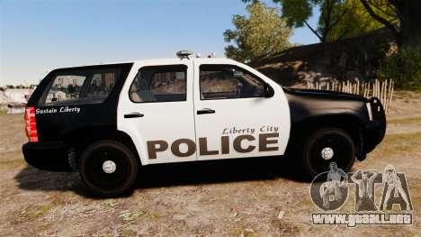 Chevrolet Tahoe 2008 LCPD [ELS] para GTA 4 left
