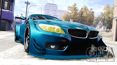 BMW Z4 GT3 2012 para GTA 4 visión correcta