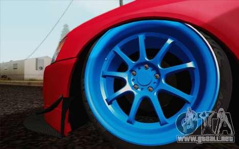 Mitsubishi Lancer MR Edition para la visión correcta GTA San Andreas